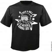 Black t-shirt with white Atomic Suplex rock and roll print